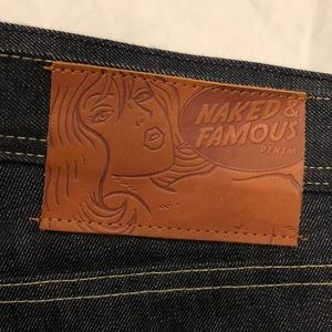 Naked and Famous men's denim